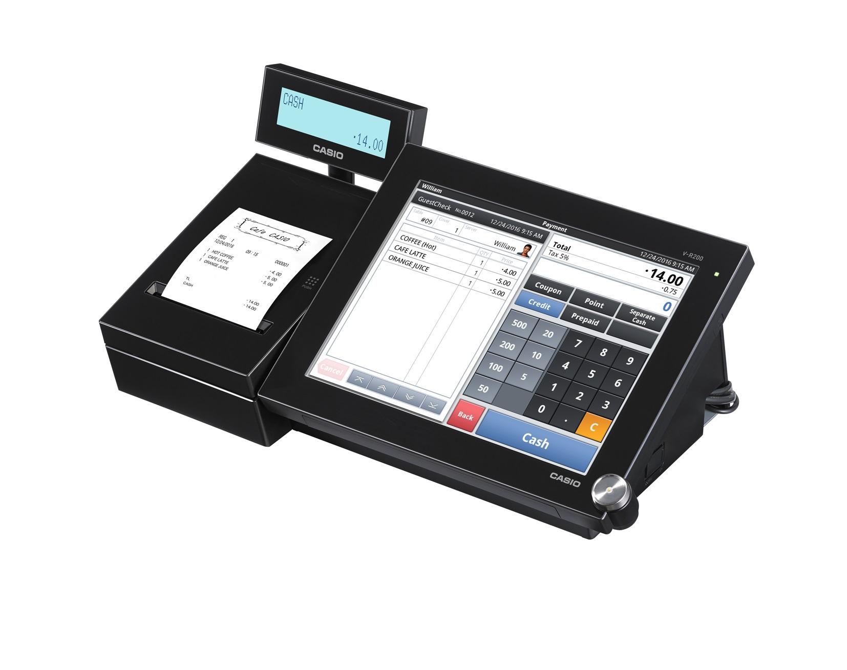 Kasseapparat Casio V-R200BD